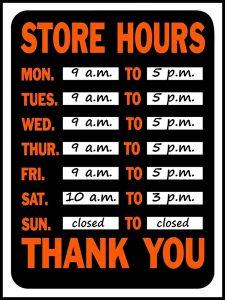 Abreviação dos dias da semana em inglês