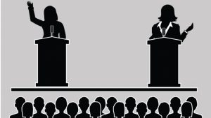 treinar inglês com debate