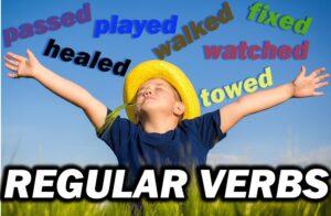 lista de verbos regulares em inglês