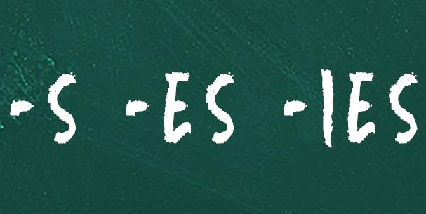 quando usar s, es ou ies com verbos em inglês